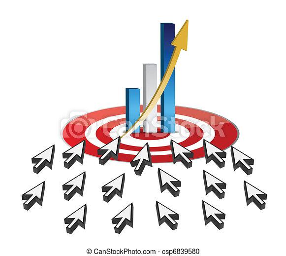 targeting business online success  - csp6839580