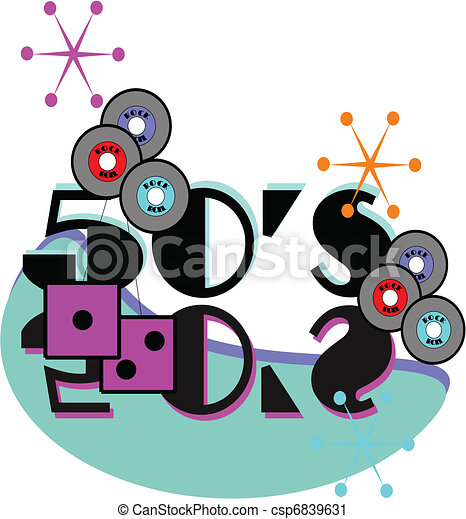 50's rock and roll background - csp6839631