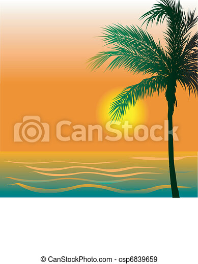 Beach Background 4 - csp6839659