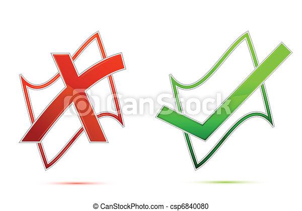 Tick and Cross Mark - csp6840080