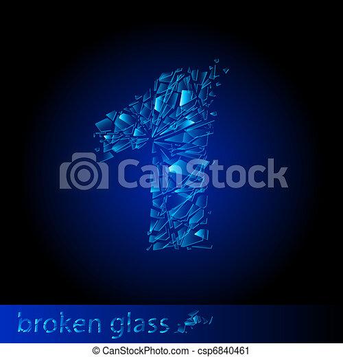 Broken glass - digit one - csp6840461