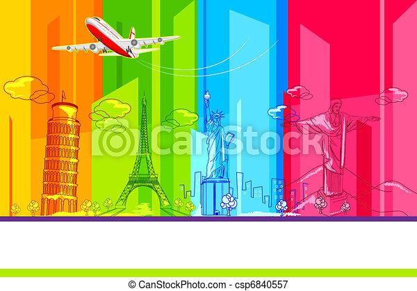 Around the World - csp6840557