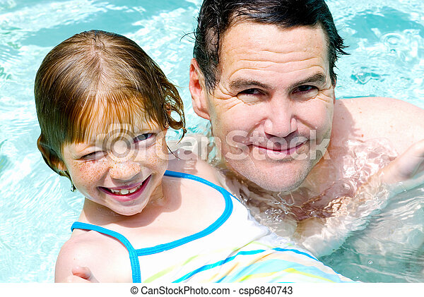 Daddy and Daughter Swim Lesson