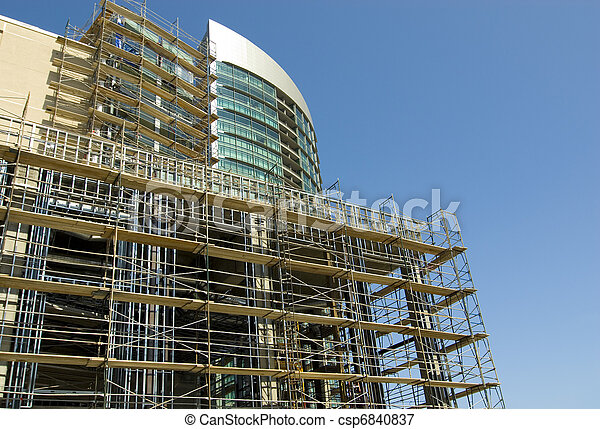 High Rise Under Construction - csp6840837