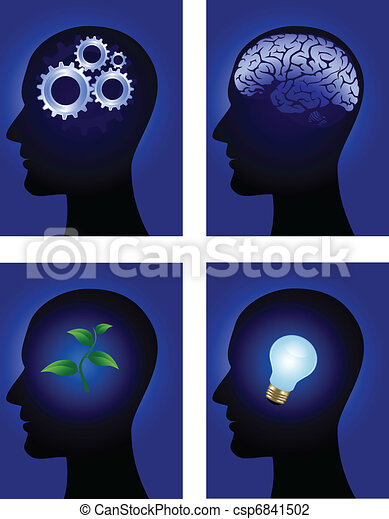 human brain symbol - csp6841502