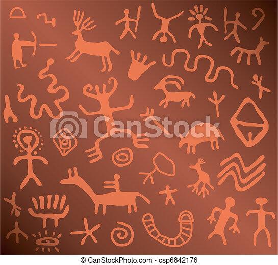 Petroglyphs Illustrations and Clip Art. 111 Petroglyphs royalty ...