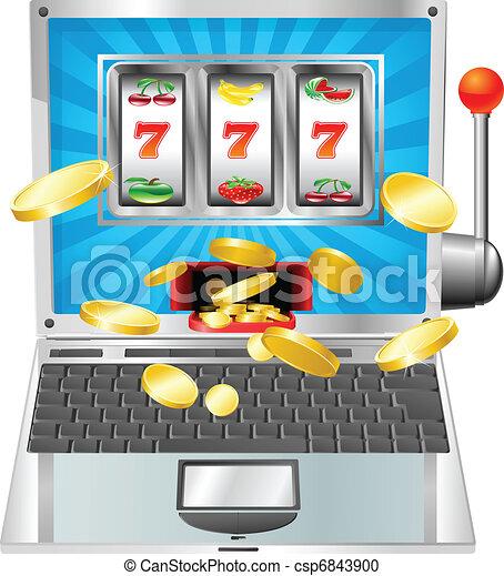 Gaming Slot Machines Clip Art