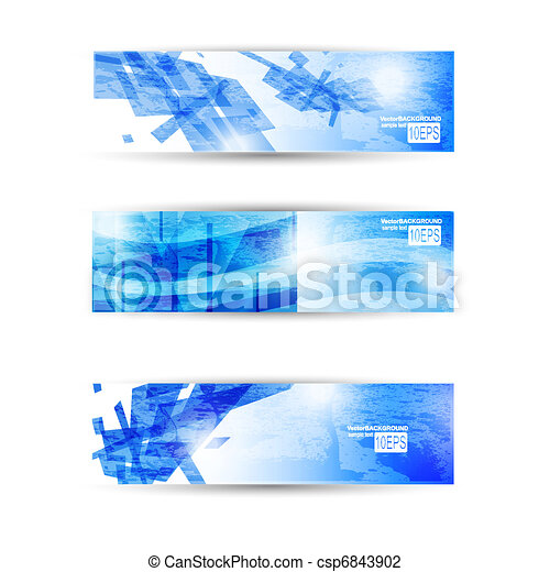 Set of abstract modern header banner for business flyer or website - csp6843902