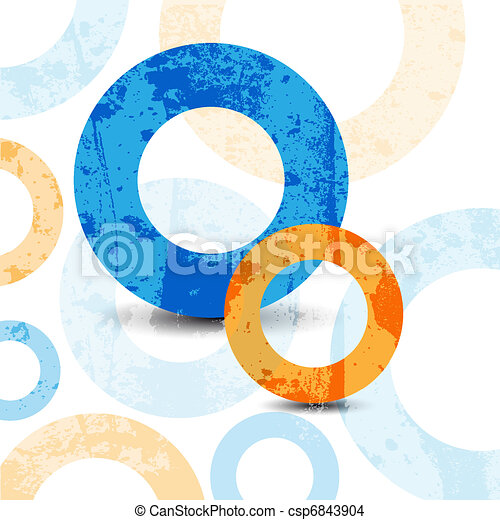abstract high-tech graphic design circles pattern background - csp6843904