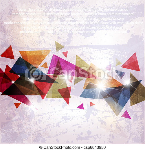 Abstract technology vector background for design - csp6843950