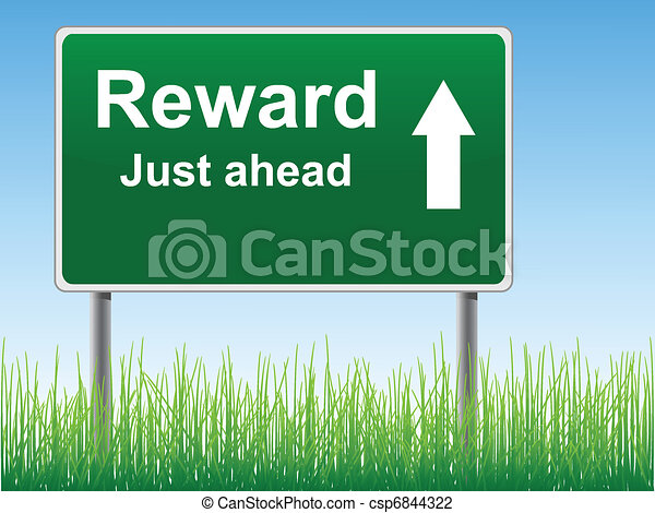 Reward road sign. - csp6844322