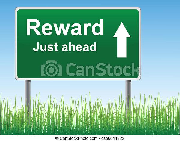 Reward road sign. - csp6844322