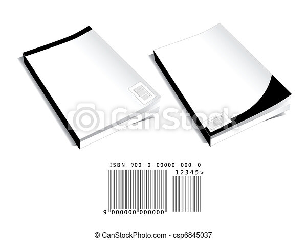 Book covers with bar code - csp6845037