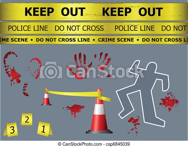 Crime scene objects - csp6845039