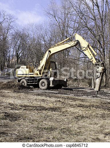 Jackhammer on Crane - csp6845712
