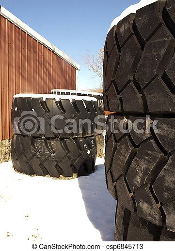 Truck tires in winter - csp6845713