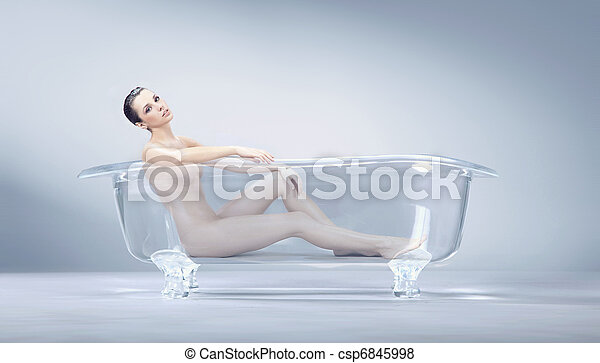 入浴, 女 - csp6845998