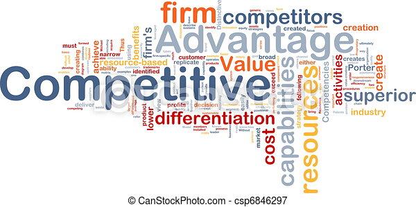 Competitive advantage background concept - csp6846297