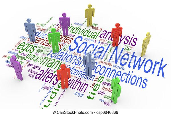 3d social network concept - csp6846866