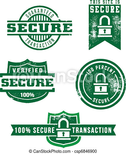 Secure Web Store Stamps - csp6846900