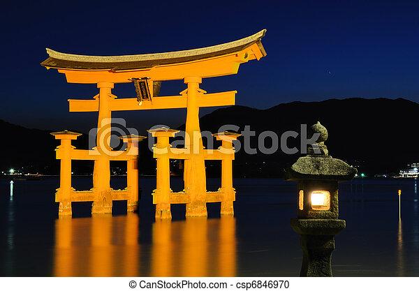 Miyajima Tori Gate - csp6846970