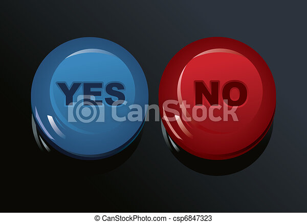 set of Yes/No buttons - csp6847323