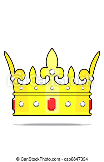 Crown with jewels - csp6847334