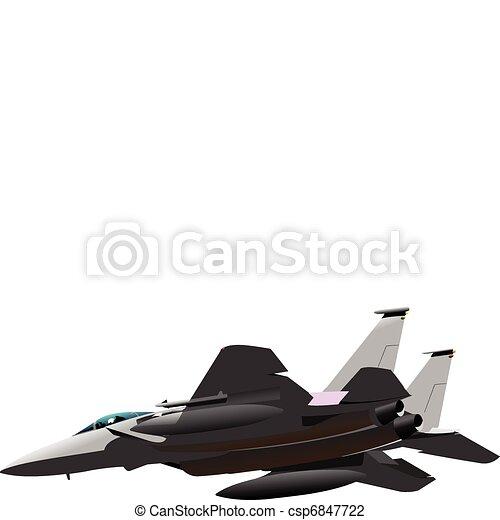 Air force. Combat. Vector illustra - csp6847722