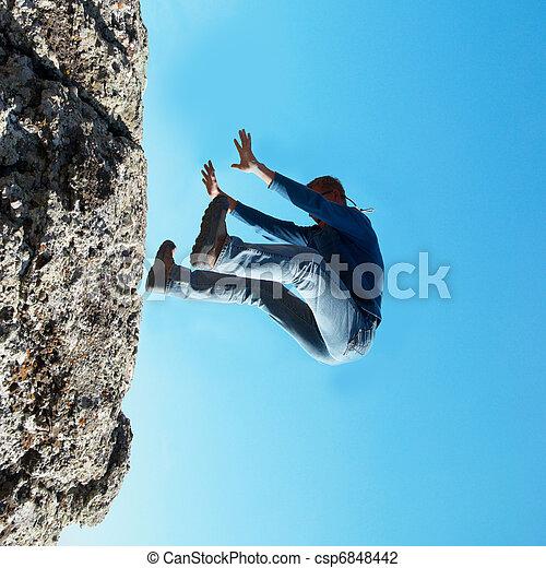 Falling down man - csp6848442