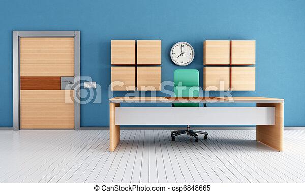 contemporary modern office - csp6848665