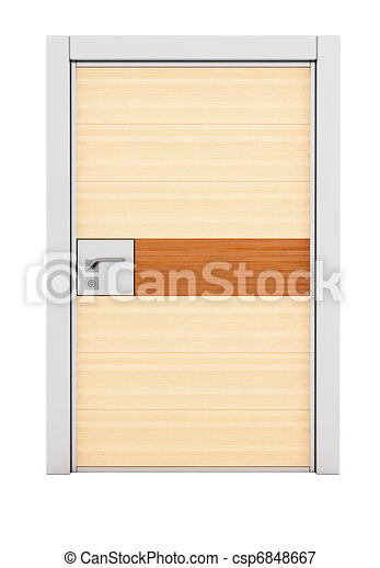 Steel wood armored door - csp6848667