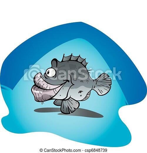 EPS Vectors of Big Cod - Cartoon Vector Illustration of the big ...
