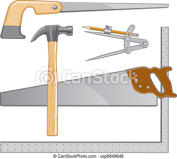 Compass Saw Drawing Keyhole Saw And Compass
