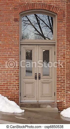 Doors with Transom 0254_210 - csp6850538
