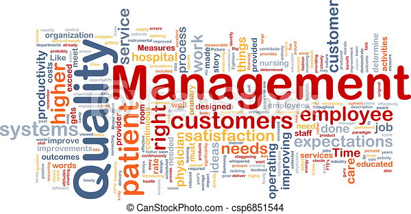 Quality management background concept - csp6851544