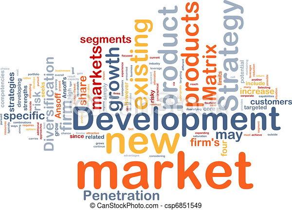 Market development background concept - csp6851549