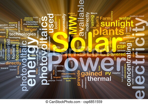 Solar power background concept glowing - csp6851559