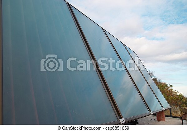 Solar water heating system - csp6851659