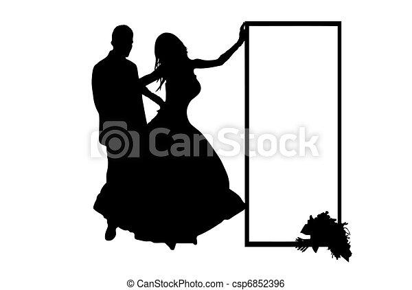 Wedding Couple Vector - csp6852396