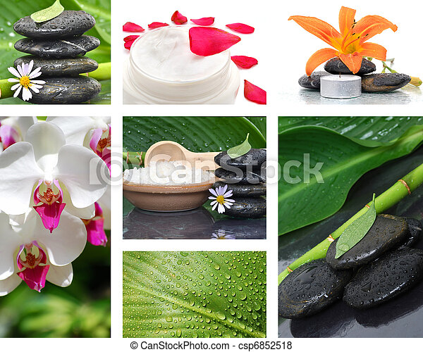 Stone Spa Collage - csp6852518