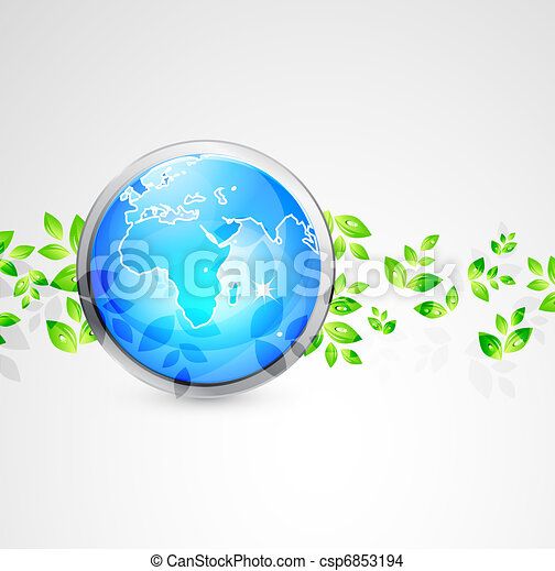 Vector Earth globe conceptual background - csp6853194
