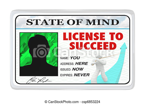 License to Succeed - Permission for a Successful Life - csp6853224
