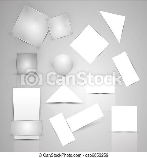 Paper business promotional elements - csp6853259