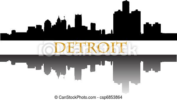 Detroit skyline - csp6853864