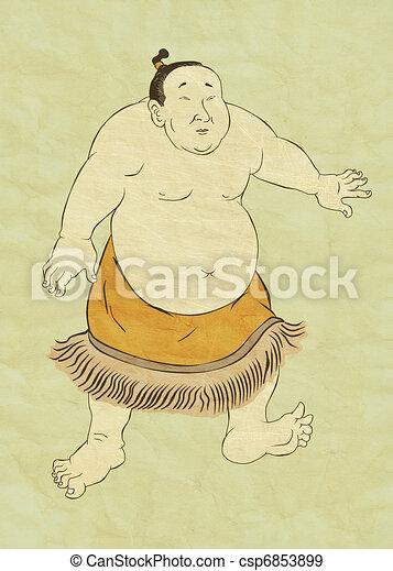 Japanese sumo wrestler - csp6853899