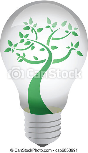 Tree in a light bulb  - csp6853991