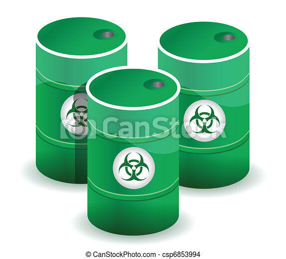 Poisonous barrels illustration - csp6853994