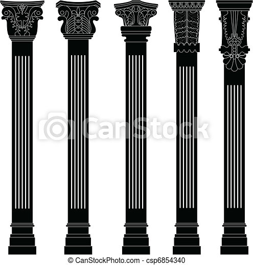 Pillar column antique ancient old - csp6854340