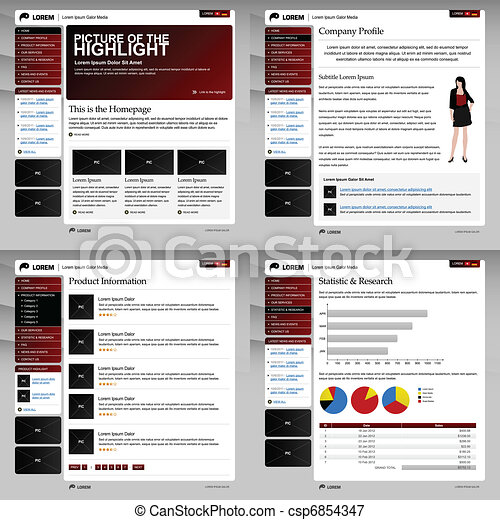 Web Website Design Template Layout - csp6854347