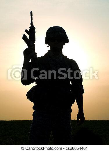 US soldier - csp6854461